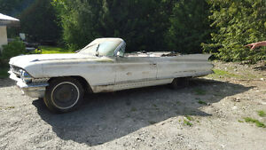 Pulled from a barn after 30 years...1961 Cadillac Convertible!!!