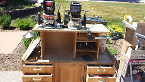 2 Routers with Router Work Table Windsor Region Ontario image 1