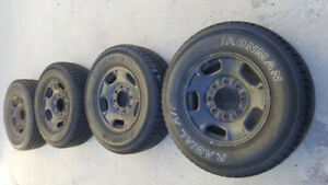 Steel wheels and tires for 2011-  up gmc/chev 2500hd