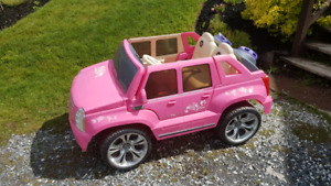 12v barbie Escalade ride on car suv