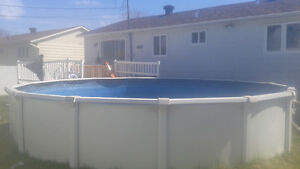 24 feet above ground Pool, Installation and New Liner
