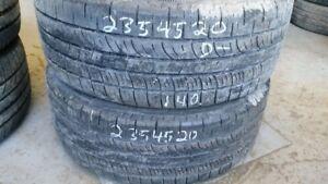 Pair of 2 Pirelli Scorpion Zero 235/45R20 tires (40% tread life)