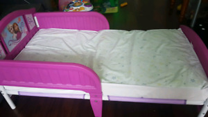Toddler bed and toys