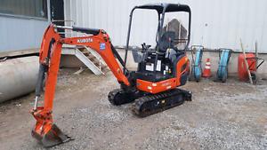 2015 Kubota kx 18 mini excavator