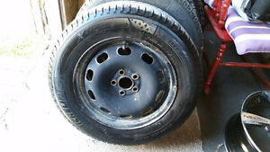 """15"""" Michelin X-ice winter tires and Rims"""