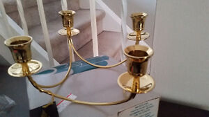 Solid Brass Candle Holder Cambridge Kitchener Area image 1
