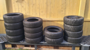 """16"""" and 17"""" used winter tires"""