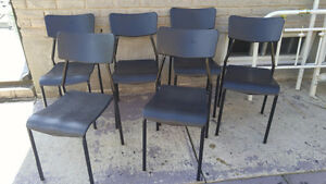 6 Steelcase black Chairs