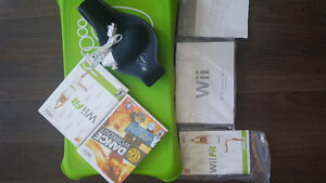 Wii fit board + games/ accessories