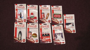 REDUCED - Lot of 9 Different Coca-Cola Magnets
