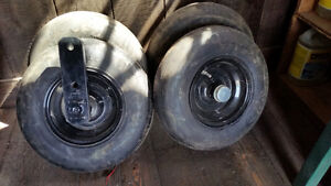 implement tires on axles 200.00 obo