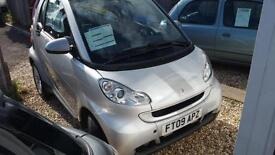2009 Smart fortwo 0.8cdi diesel ( 45bhp ) Passion full history stunning 1 owner