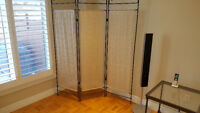 LIKE NEW ! Beautiful,Beige Designer,Room Divider or Room Accent.