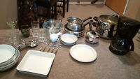 Dishes, cookware, cutlery