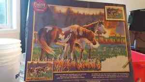 Horses paint by number