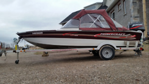 16 ft Princecraft 40 hp 4 stroke EFI $8550 CASH