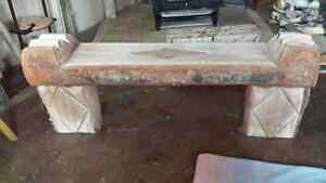 pine and birch benches and  tables