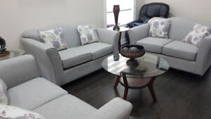 3 piece sofa set with coffee table and side tables