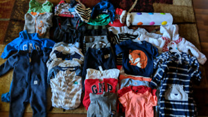 Baby boys large lot of clothing