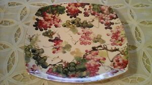 CHINA SQUARE PLATTER - OAKRIDGE BY SKYE MCGHIE - GRAPES