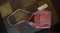FRENCH CONNECTION CORAL GENUINE SUEDE LITTLE BAG, NEW 55$