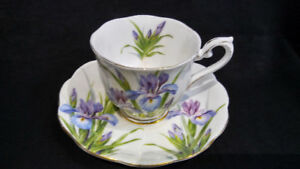 "Royal Albert Crown China 'Iris"" Cup & Saucer"