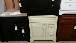 "30 "" Antique white vanity"