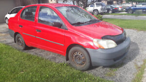 2001 Toyota Echo (AS IS, needs work, 4dr, manual, new clutch)
