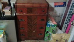Three Antique Wooden Dressers.