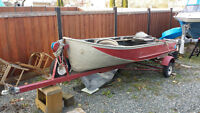 12' aluminium Springbokboat with trailer and misc gear