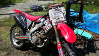 Looking to trade mint 04 crf250r for pickup truck