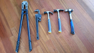 Five Mastercraft hand tools