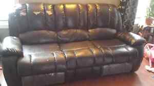 Recliner 3pcs sofa and love seat Cambridge Kitchener Area image 1