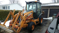 Backhoe and experienced operator