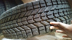 2 sets of winter tires Kitchener / Waterloo Kitchener Area image 3