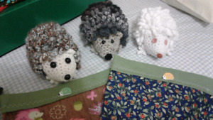 HEDGEHOG RESCUE FUNDRAISER:  Hand Crocheted Hedgies