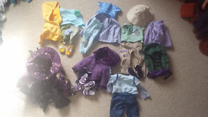 Assorted Maplelea doll clothes