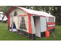 Sunseeker tourer trailer tent folding camper