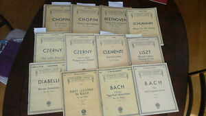 9 volumes collection Schirmer's Library of musical classics
