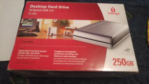 250 GB external hard drive
