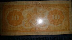 1913 battleship $10 bill graded PMG 15 the Royal Bank of Canada. London Ontario image 4