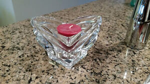Candle holder - single votive with candle.