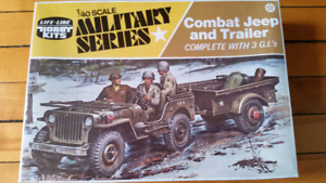 Vintage Life-like model 1/40 scale military series hobby kits.
