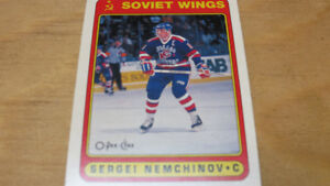 Sergei Nemchinov 1990-91 Soviet Wings NHL OPC Rookie card