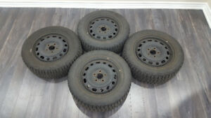 4 Snow Tires With Rims, Firestone Winterforce 16""