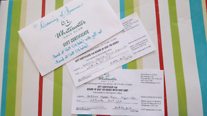 White water golf club gift certificates