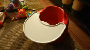 BUMBO CHAIR W/ Tray Red Like New