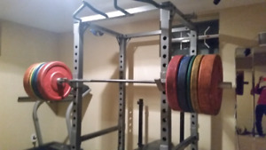 Exercise power rack
