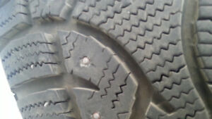 4 GENERAL ALTIMAX ARCTIC WINTER TIRES WITH STUDS
