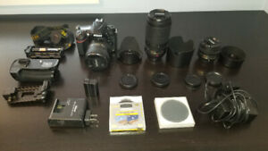Nikon D610 + 3 lenses + accessories package